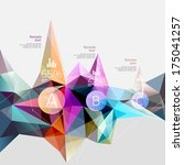 infographics with abstract... | Shutterstock .eps vector #175041257