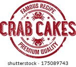 Vintage Crab Cakes Seafood Sign