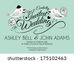 wedding invitation card with... | Shutterstock .eps vector #175102463