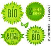 bio  natural  fresh   vector... | Shutterstock .eps vector #175110017