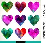happy valentines day cards with ... | Shutterstock .eps vector #175127663