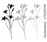 vector set of bellflower on a... | Shutterstock .eps vector #175149743