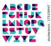 Fun geometric font | Shutterstock vector #175158947