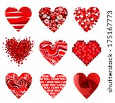 valentines composition of the... | Shutterstock .eps vector #175167773