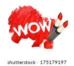 lipstick smudged on white... | Shutterstock . vector #175179197