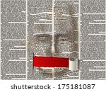 stylized human face of the... | Shutterstock .eps vector #175181087