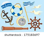set of sailor icon | Shutterstock . vector #175183697