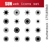 set of sun icons | Shutterstock .eps vector #175185863