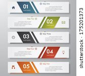 design clean number banners... | Shutterstock .eps vector #175201373