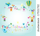 friends and christmas | Shutterstock .eps vector #17521732