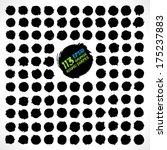 set of round grunge vector...   Shutterstock .eps vector #175237883