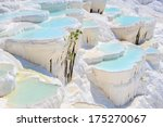 Blue Cyan Water Travertine...