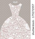 wedding invitation with...   Shutterstock .eps vector #175272557