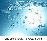 blue bubbles underwater  | Shutterstock . vector #175279043