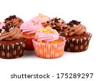 Chocolate And Pink Cup Cakes...