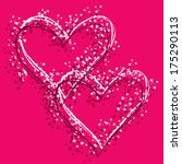 vector valentine hearts with... | Shutterstock .eps vector #175290113