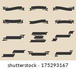 vector vintage ribbon set  ... | Shutterstock .eps vector #175293167