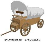 covered wagon    vector artwork ... | Shutterstock .eps vector #175293653