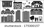 image of various icons to... | Shutterstock .eps vector #175300157