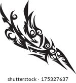 vector tattoos for back  arms. | Shutterstock .eps vector #175327637