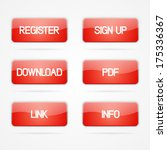 red clean set of buttons with...   Shutterstock . vector #175336367