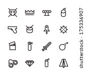 thin line icons for...