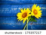Two Yellow Sunflowers On A...