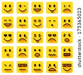 vector icons of smiling faces... | Shutterstock .eps vector #175365023