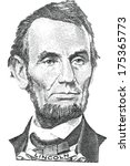 Portrait Of Abraham Lincoln ...