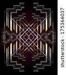 vector background in an art... | Shutterstock .eps vector #175366037