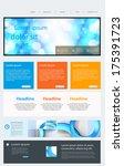 website template | Shutterstock .eps vector #175391723
