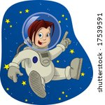 space kid  3 | Shutterstock . vector #17539591