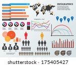 set elements of infographics | Shutterstock .eps vector #175405427