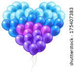 colorful balloon in heart shape ... | Shutterstock .eps vector #175407383