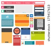 flat user interface vector set...