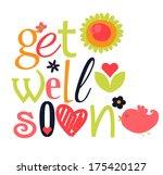 get well soon | Shutterstock .eps vector #175420127