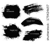 set of grunge vector and ink... | Shutterstock .eps vector #175424657