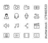 multimedia icons | Shutterstock .eps vector #175483523