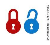 lock unlock icon | Shutterstock .eps vector #175494467