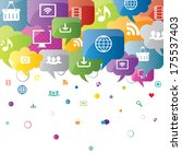 social network  sharing and... | Shutterstock .eps vector #175537403