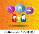 social network concept in... | Shutterstock .eps vector #175538087
