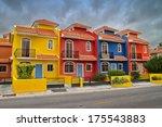 colorful villas in a beach... | Shutterstock . vector #175543883
