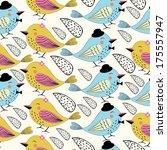 seamless love bird pattern in... | Shutterstock .eps vector #175557947