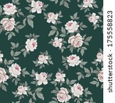 seamless vintage flower pattern   Shutterstock .eps vector #175558823