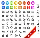 group of flat shopping icons an ... | Shutterstock .eps vector #175564163