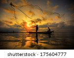 Fisherman Of Bangpra Lake In...