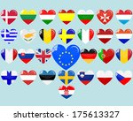 hearts with the flags of... | Shutterstock .eps vector #175613327