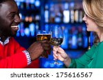 young romantic couple enjoying... | Shutterstock . vector #175616567