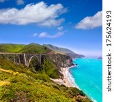 california bixby bridge in big...