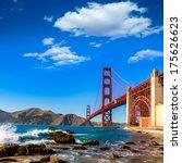 san francisco golden gate...   Shutterstock . vector #175626623